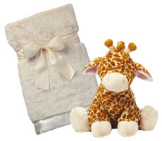 Jamie Giraffe and Blanket Gift Set Large