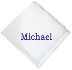 White Micro Fleece Baby Blanket