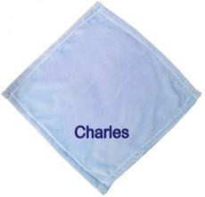 Pale Blue Micro Fleece Baby Blankie