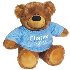 Cuddly Brown Bear with a Personalized Sweater