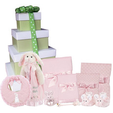 Cottontail Personalized Baby Gift Tower
