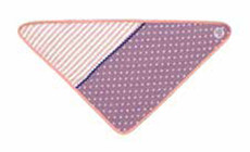 Purple Polka Dot Organic Baby Bib from Apple Park