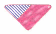 Pink Polka Dot Organic Bandana Bib from Apple Park