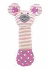 Ballerina Mouse Squeaky Toy from Apple Park Farm Buddies