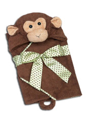 Giggles Monkey Hooded Bath Towel