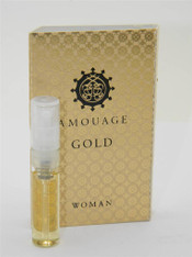 Amouage Gold Woman EDP 2ml Vial Sample New With Card