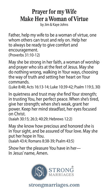 Prayer for my Wife