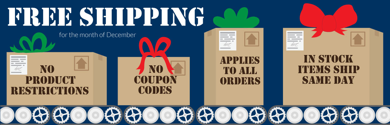 Free Shipping for the month of December