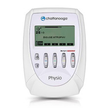 Physio-4 channel stim unit used by professionals for various treatments.