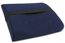 Back Cushion  Provides proper posture while providing firm support and comfort. Side support wings offer lateral support. Made with high density, quality foam and finished with a washable cover