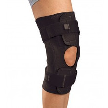 ProCare Reddie Hinged Knee Brace has a neoprene wraparound configuration and strap tabs which provides ease of application.