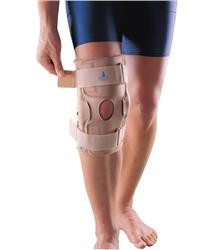 The Post Operative Knee Support Brace reduces swelling & pain following arthroscopic surgery & enhances protection of periarticular structures.
