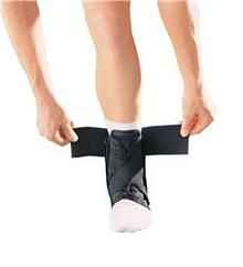 Ankle Brace with Strap has an open heel which allows for snug, comfortable fit.