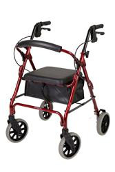 "This walker features high quality 8"" castors for superior outdoor use while still being ideal for manoeuvring indoors."