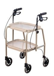 Versatile trolley that can be used with or without the trays or it can be used as a table.