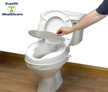 Savanah Raised Toilet Seat 5cm with lid.