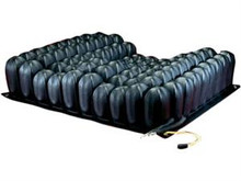 The ENHANCER DRY FLOATATION Cushion offers a contoured form with a two manifold system, the client/user can benefit from positive midline channeling of the legs along with increased lateral stability.