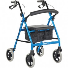 BetterLiving All Terrain Rollator features a unique, durable and attractive ellipse-shaped framework and comfortable seat with no sharp edges.