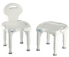 The Invacare I-Fit Shower Chair is height adjustable from 38-55cm with a removaable backrest for stool or chair