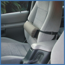 The Lumbar support for seat has a strap so you can adjust positioning.