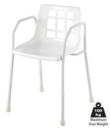 Standard Steel Shower Chair is a standard no-fuss chair, which is height adjustable.