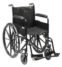 self-propel S1 Steel Wheelchair