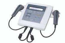 The Metron Accusonic Advantage therapeutic ultrasound now offers 1 and 3 MHz from all the available applicators - the standard 5cm2 and optional 2.5cm2 and 0.8cm2. Microprocessor technology has been used to make the Accusonic Advantage compact and easy to use. This technology has allowed a number of useful features to be presented in the Accusonic Advantage.