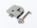 Steel Half Mortise Skeleton Key Furniture Lock Right Hand