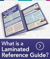 What is a laminated reference guide?