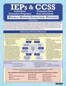 IEPs and CCSS: Specially Designed Instructional Strategies (cover)