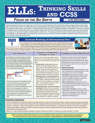 ELLs: Thinking Skills and CCSS Focus on the Six Shifts