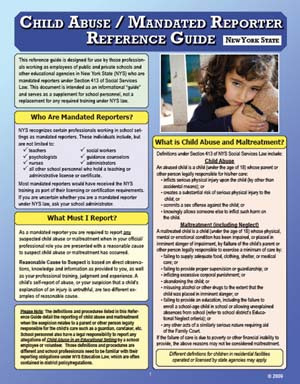 Child Abuse/Mandated Reporter Reference Card