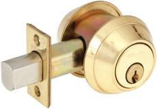 Schlage  B662  Double Cylinder Deadlock Bright Brass