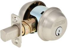 Schlage  B62N-619 Double Cylinder Deadlock Satin Nickel