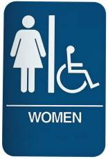 DON-JO HS-9070-05 Women's / Handicap ADA Sign Blue