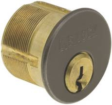 "Mortise Cylinder Solid Brass 1-1/8""- Duronotic Finish"