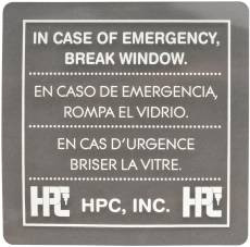 Replacement breakable glass window for the 511 emergency key box