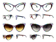 CRYSTAL Cateye Glasses - Multi