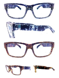 Crystal Mottled Wayfarer Glasses  Comes in two colored Frames Mottled Black and Mottled Brown