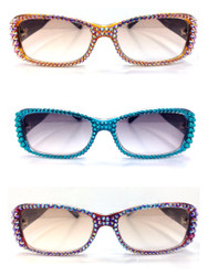 Crystal Reading Sunglasses (Multiple Colors!)