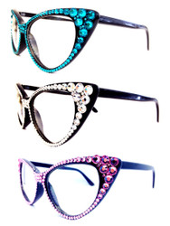 Optical Crystal Cat Eye Reading Glasses