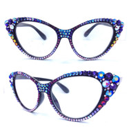 Crystal Cateye Reading Glasses-Multi
