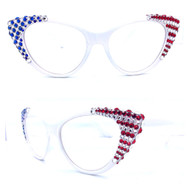 Crystal Cateye Reading Glasses-U.S.A