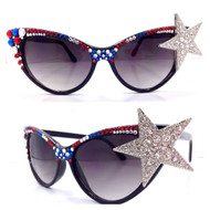 CRYSTAL Cateye SUN Glasses -Super Star