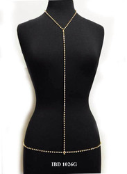 Simple Rhinestone Body Chain - 1026
