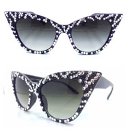 Zebra Striped Cateye Sunglasses