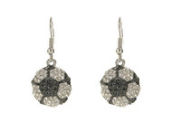 Crystal Soccer Ball Earrings