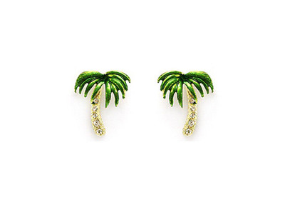 Crystal Palm Tree Earrings