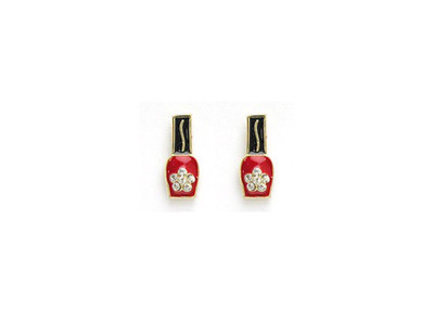 Crystal Nail Polish Earrings