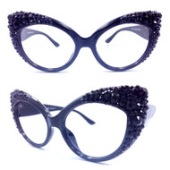 Black Magic Majestic Cateye Glasses